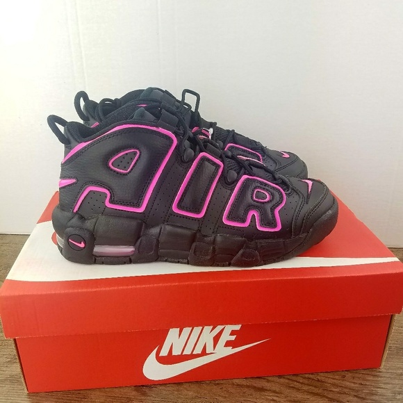 100% authentic c0da5 12b37 Nike AIR MORE UPTEMPO GS KIDS NEW Black Pink Blast